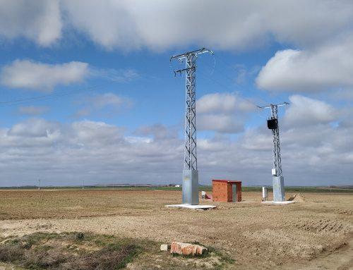 Línea aérea y Centro de Transformación para riego agrícola en Medina del Campo