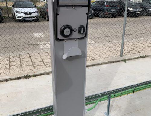 Cargadores de Vehículo eléctrico (15 unidades dobles) en entorno industrial de Valladolid